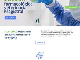 ADN Vital - Diseño Sitio Web Corporativo