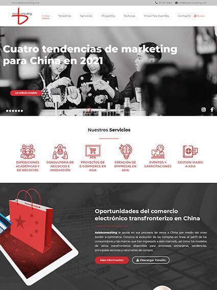 Sitio Web Corporativo - AsiaB Consulting