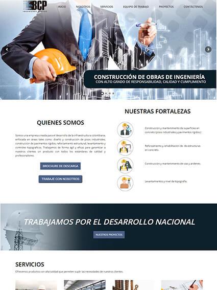 BCP Ingenieros - Diseño Página Web Corporativa