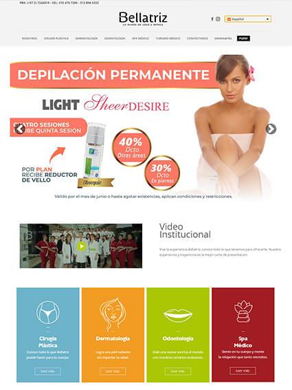 Clínica Bellatriz - Diseño web corporativo