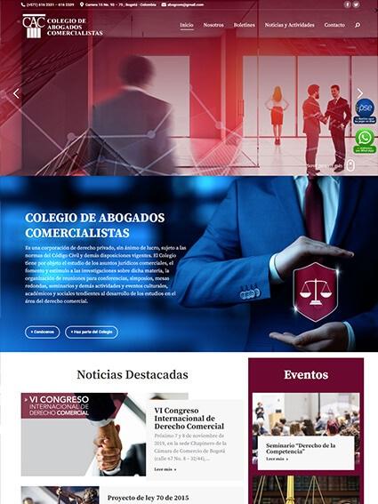 Colegio de Abogados Comercialistas - Diseño Web Corporativo