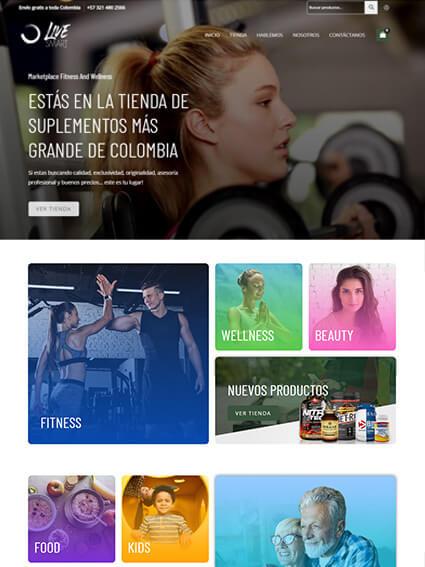 Diseño de Ecommerce Live Smart