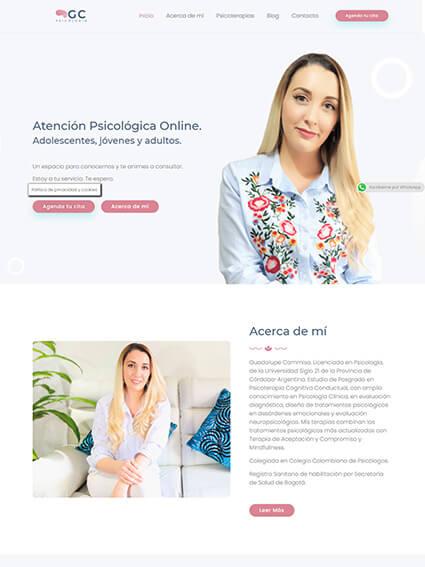 Diseño Web Corporativo GC Psicología