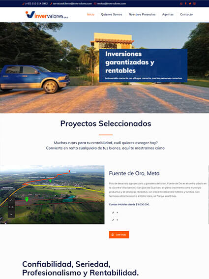 Diseño Web Corporativo - Invervalores SAS