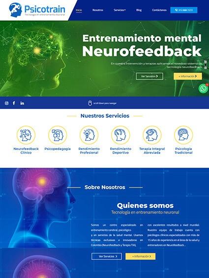 Psicotrain Diseño Web Corporativo