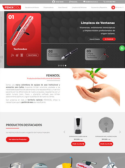 Diseño Web Ecommerce - Fenixcol