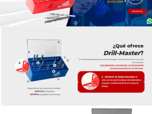 Diseño Web One Page - Drill Master