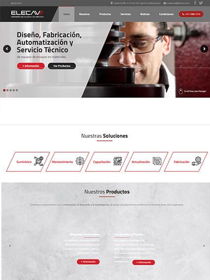 Elecav - Diseño Web Corporativo