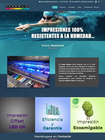 Franja Impresa - Página Web Corporativa
