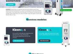 Kleeno - Diseño sitio web corporativo