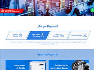 Link Compresores - Página Web Tipo Catálogo