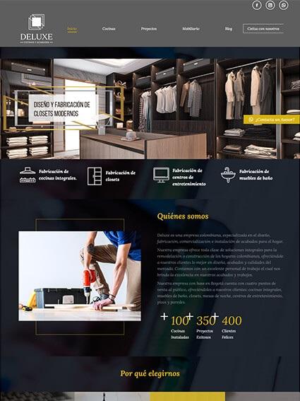 Página Web Corporativa - Cliente Deluxe
