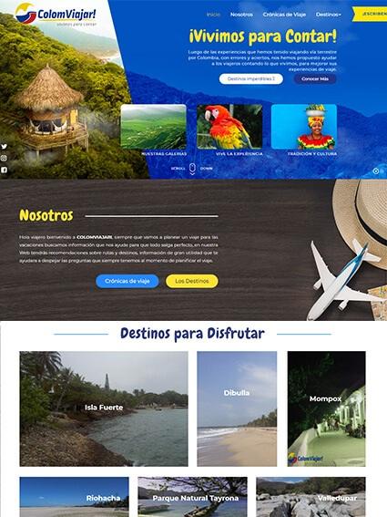 Sitio web corporativo - Colomviajar