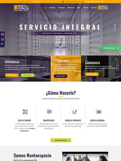 Sitio Web Corporativo - Renta Espacio