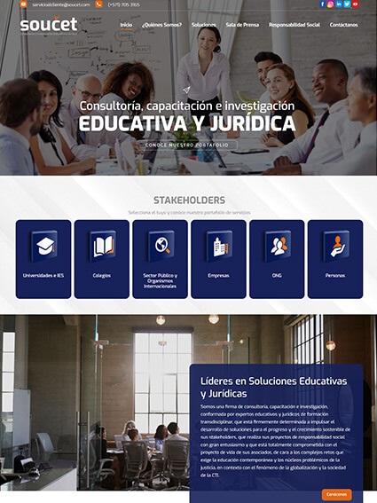Soucet - Diseño Web Corporativo