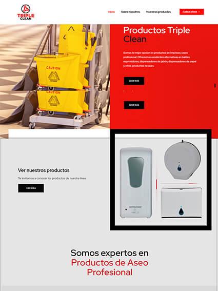 Triple Clean - Sitio web catálogo de productos