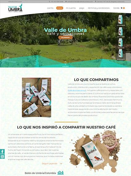 Valle de Umbra - Diseño Web Corporativo