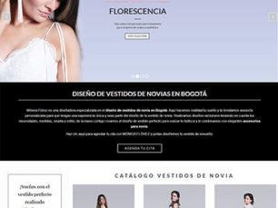 Página Web Catálogo Vestidos de Novia Mónica Flórez