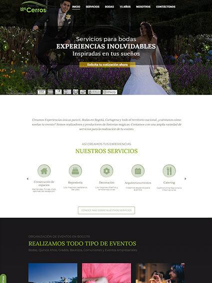 Web Corporativa para Eventos Los Cerros