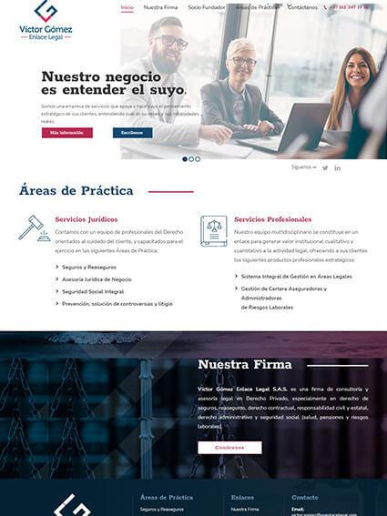 Víctor Gómez Enlace Legal - Sitio Web Corporativo