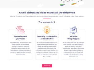 Zapp Video - Diseño de sitio web corporativo
